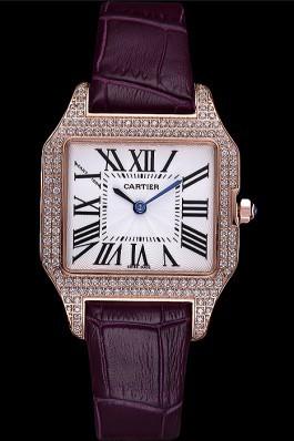 Cartier Santos 100 Diamond Rose Gold Bezel 621913 Cartier Replica