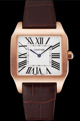 Cartier Santos 100 Diamond Rose Gold Bezel 621932 Cartier Replica