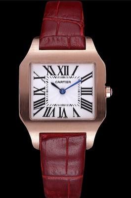 Cartier Santos 100 Polished Rose Gold Bezel 621919 Cartier Replica
