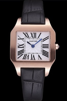 Cartier Santos 100 Polished Rose Gold Bezel 621920 Cartier Replica