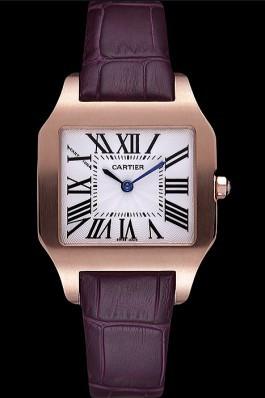 Cartier Santos 100 Polished Rose Gold Bezel 621921 Cartier Replica