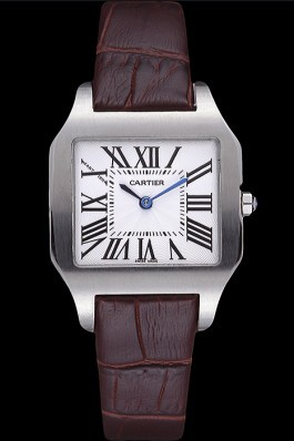 Cartier Santos 100 Polished Stainless Steel Bezel 621923 Cartier Replica