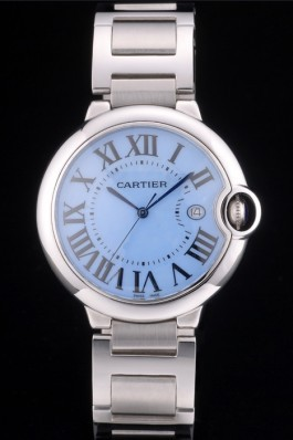 Cartier Ballon Bleu 42mm Blue Dial Stainless Steel Case And Bracelet Cartier Replica