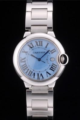 Cartier Ballon Bleu 38mm Blue Dial Stainless Steel Case And Bracelet Cartier Replica