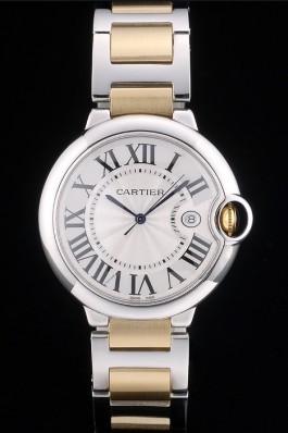 Cartier Ballon Bleu 42mm White Dial Stainless Steel Case Two Tone Gold Bracelet Cartier Replica