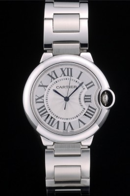 Cartier Ballon Bleu 38mm White Dial Stainless Steel Case Two Tone Silver Bracelet Cartier Replica