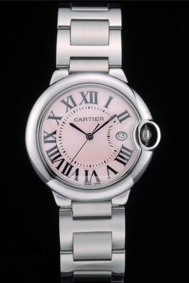 Cartier Ballon Bleu 38mm Pink Dial Stainless Steel Case And Bracelet Cartier Replica