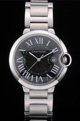 Cartier Ballon Bleu 42mm Black Dial Stainless Steel Case And Bracelet Cartier Replica