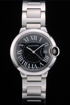 Cartier Ballon Bleu 38mm Black Dial Stainless Steel Case And Bracelet Cartier Replica