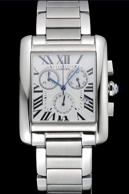 Cartier Tank MC White Dial Stainless Steel Case And Bracelet 622697 Cartier Replica