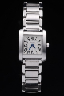 Cartier Tank Francaise 20mm White Dial Stainless Steel Case And Bracelet Cartier Replica