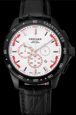 Chopard Mille Miglia GTS White Dial Black Leather Bracelet 1453999 Chopard Replica