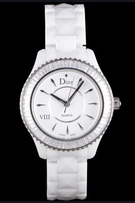Dior VIII Baguette Cut White Diamonds cd01 621354 Replica Christian Dior