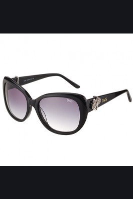 Replica Dolce and Gabbana Black With Silver Roses Sunglasses  308025