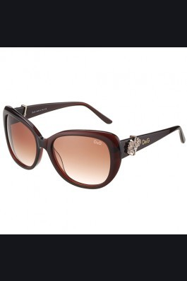 Replica Dolce and Gabbana Brown With Silver Roses Sunglasses  308026