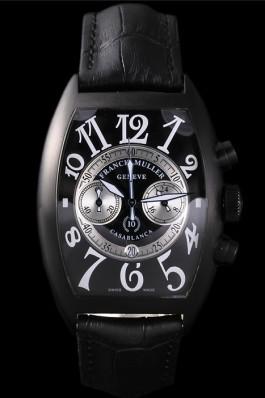 Franck Muller Casablanca White Dial Numbers Black Croco Strap 80302 Franck Muller Casablanca Replica