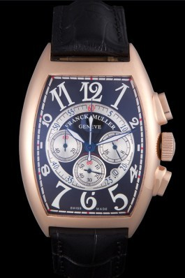 Franck Muller Casablanca White Dial Numbers Rose Gold Bezel 80304 Franck Muller Casablanca Replica