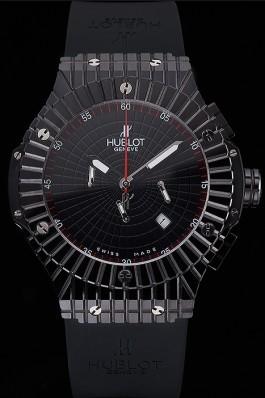 Hublot Big Bang Caviar Black Dial Black Case Replica Watch Hublot