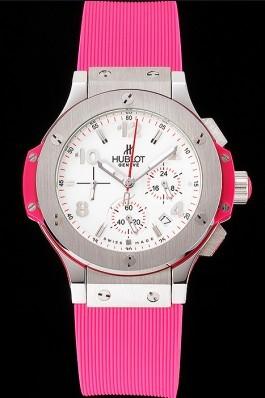 Hublot Big Bang Pink Strap White Dial Watch Replica Watch Hublot
