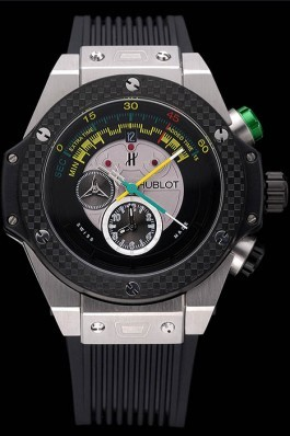 Hublot Big Bang Unico Bi-Retrograde Chrono King Stainless Steel Case Black Rubber Strap 622770 Replica Watch Hublot