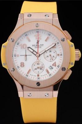 Hublot Big Bang Yellow Strap White Dial Watch 98068 Replica Watch Hublot