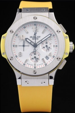 Hublot Big Bang Yellow Strap White Dial Watch 98071 Replica Watch Hublot