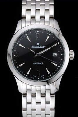 Jaeger LeCoultre Master Black Dial Stainless Steel Bezel Stainless Steel Band 622093 Le Coultre Watch