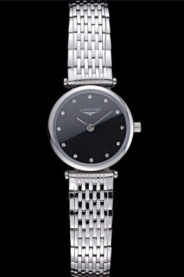 Longines La Grande Classique Stainless Steel Black Dial Diamond Markers Femme 622112 Replica Longines Classic