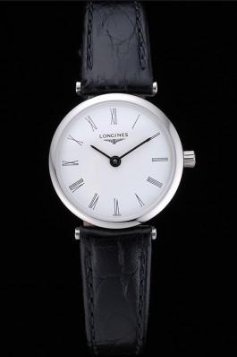 Longines La Grande Classique White Dial Black Leather Band Femme 622128 Replica Longines Classic