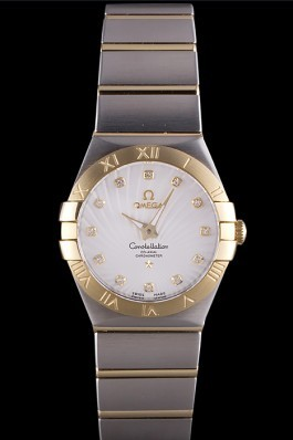 Omega Constellation Gold Bezel Two Tone Band som95 621475 Best Omega Replica