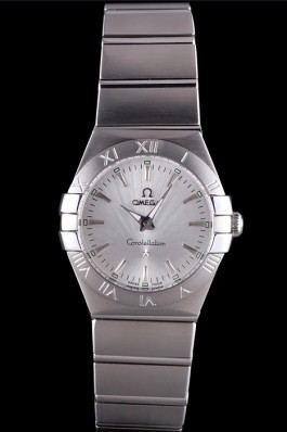 Omega Constellation Grey Dial Stainless Steel Band 621458 Best Omega Replica