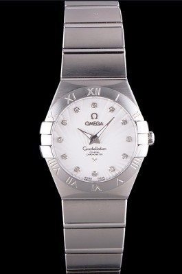Omega Constellation White Dial Stainless Steel Band 621457 Best Omega Replica