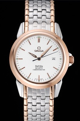 Stainless Steel Band Top Quality Rose Plated Omega Deville Men's Luxury Watch 4662 Omega Replica Watch