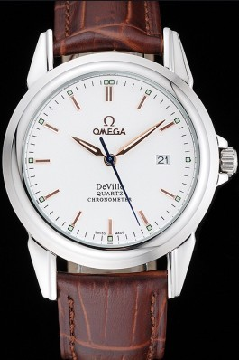 Brown Leather Band Top Quality Brown Leather Men's Omega Deville Luxury Watch 4745 Omega Replica Watch
