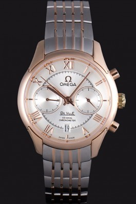 Omega DeVille Two Tone Links White Dial om239 621563 Omega Replica Watch