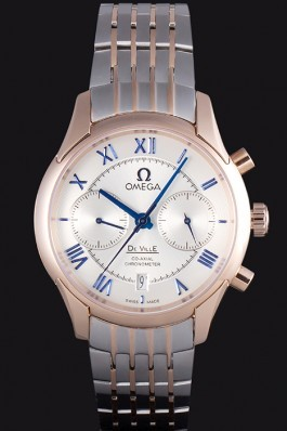 Omega DeVille Two Tone Links White Dial om240 621564 Omega Replica Watch