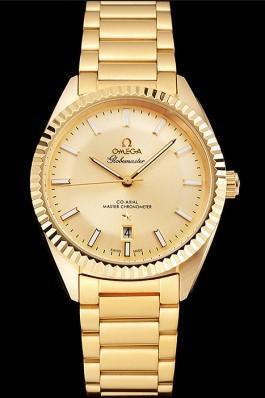 Omega Globemaster Gold Dial Gold Case And Bracelet Best Omega Replica