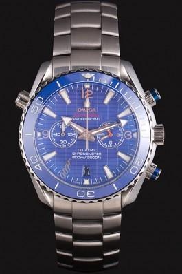 Omega James Bond Skyfall Chronometer Watch with Blue Dial and Blue Bezel om226 621378 Omega Replica Seamaster