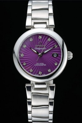 Omega Ladymatic Purple Dial Stainless Steel Bracelet 622459 Omega Replica Watch