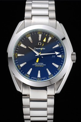 Omega Seamaster Aqua Terra Black Dial Yellow Numerals Stainless Steel Bracelet 622524 Omega Replica Seamaster