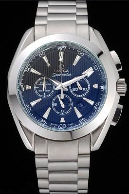 Omega Seamaster Aqua Terra Chronograph Blue Dial Stainless Steel Bracelet 622528 Omega Replica Seamaster