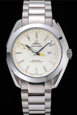 Omega Seamaster Aqua Terra Ivory Dial Black And Yellow Seconds Hand Stainless Steel Bracelet 622525 Omega Replica Seamaster
