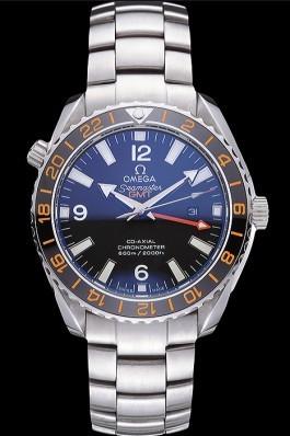 Omega Seamaster Black Dial Stainless Steel Bracelet 622037 Omega Replica Seamaster