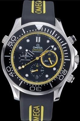 Omega Seamaster Planet Ocean Black Rubber Bracelet 622048 Omega Replica Seamaster