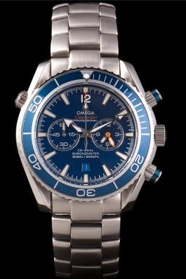 Omega Seamaster Planet Ocean Blue Bezel Blue Dial Stainless Steel Strap 80239 Omega Replica Seamaster
