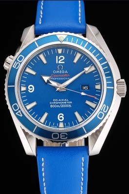 Omega Seamaster Planet Ocean Blue Dial Blue Leatherl Bracelet 622538 Omega Replica Seamaster