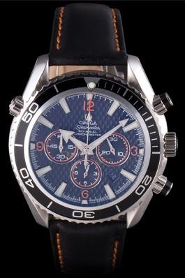 Omega Seamaster Planet Ocean Co-axial Black Case Black Dial 98101 Omega Replica Seamaster
