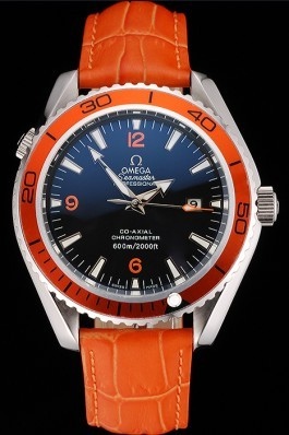 Omega Seamaster Planet Ocean Co-axial Orange Case Black Dial 98100 Omega Replica Seamaster