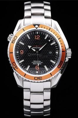 Omega Seamaster Planet Ocean Co-axial Orange Case Black Dial 98102 Omega Replica Seamaster