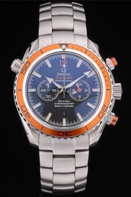 Omega Seamaster Planet Ocean Orange Bezel Black Dial Stainless Steel Strap 80241 Omega Replica Seamaster